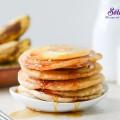 khoai lang, cách làm bánh pancake chuối dứa