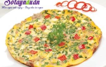 Nấu ăn món ngon mỗi ngày với Thịt nạc dăm, Cách làm trứng đúc hẹ