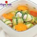 trứng cuộn rong biển, Cách nấu canh bí nấu tôm