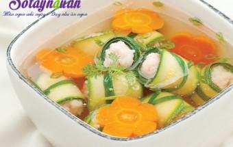 Nấu ăn món ngon mỗi ngày với Tôm sú, Cách nấu canh bí nấu tôm