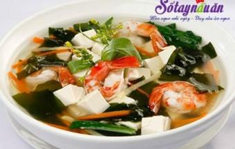 Nấu ăn món ngon mỗi ngày với Tôm sú, cách nấu canh rong biển nấu tôm