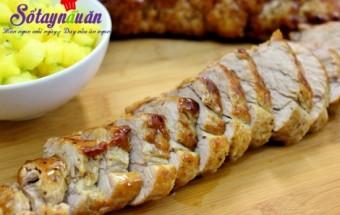 , cách nướng thịt thăn lợn, thịt nướng, thịt lợn nướng