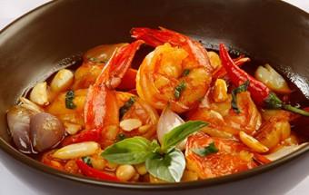 Nấu ăn món ngon mỗi ngày với Tôm sú, Cách nấu tôm kho húng quế, tôm xào