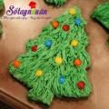 cách làm bánh quy, cách làm bánh quy cây thông noel, tiệc noel