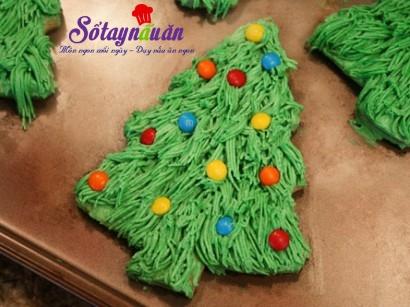 cách làm bánh quy cây thông noel, tiệc noel