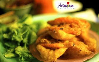 Nấu ăn món ngon mỗi ngày với Bột nghệ, cách làm bánh tôm hồ tây