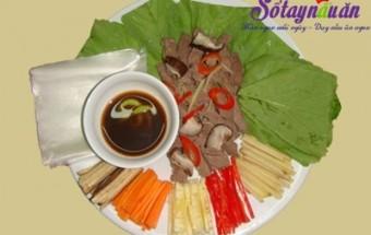 Nấu ăn món ngon mỗi ngày với Chuối xanh, cách làm thịt bò cuốn lá cải