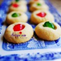 bánh giáng sinh, cách làm bánh quy bơ cherry cho tiệc noel đón giáng sinh