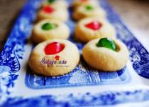 Thực đơn tiệc Noel – Bánh quy bơ cherry đón Giáng sinh