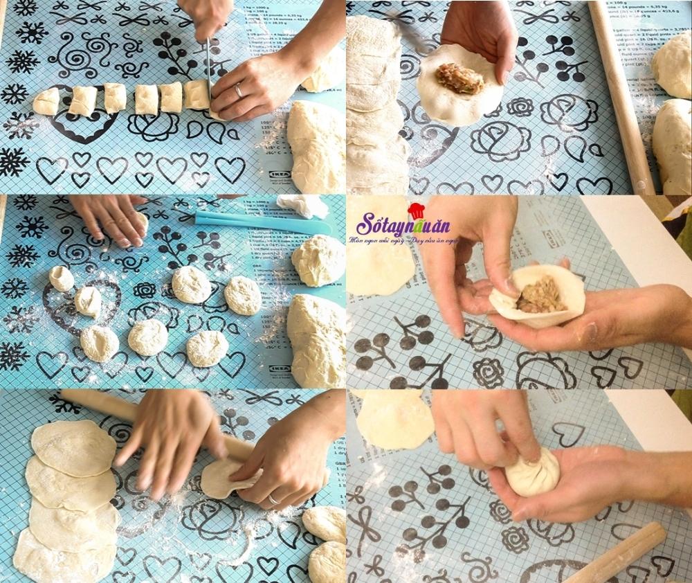 cách làm bánh bao nhân thịt cải bắp