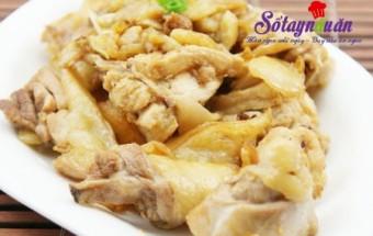 Nấu ăn món ngon mỗi ngày với gà ta, cách nấu gà rang gừng sả
