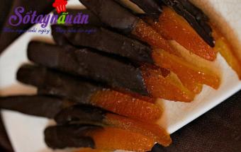 Nấu ăn món ngon mỗi ngày với Chocolate đen, Làm mứt vỏ cam bọc Chocolate đón Tết