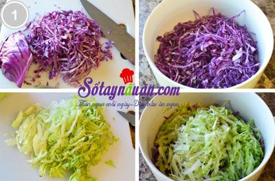 Tươi mát salad táo bắp cải tím 1