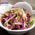 cách làm salad tôm, Tưới mát salad táo bắp cải tím