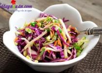 Tươi mát salad táo bắp cải tím