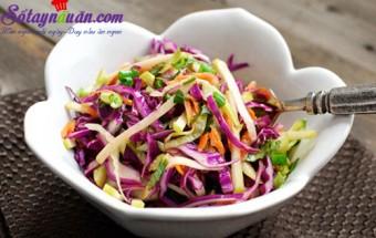 Nấu ăn món ngon mỗi ngày với Chanh tươi, Tưới mát salad táo bắp cải tím
