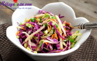 , Tưới mát salad táo bắp cải tím