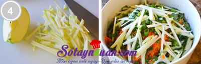 Tươi mát salad táo bắp cải tím 4