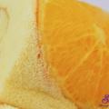 bánh bông lan cuộn màu sắc, làm bánh bông lan cam tươi