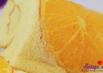 Làm bánh bông lan cam tươi