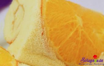 Các món ăn vặt, làm bánh bông lan cam tươi