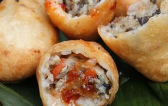 Nấu ăn món ngon mỗi ngày với Bột gạo tẻ, bánh rán mặn món quà vặt chiều về