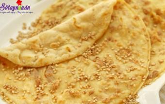 Những món ăn vặt, cách làm bánh bột mì vừng thơm ngon