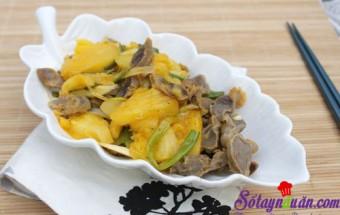Nấu ăn món ngon mỗi ngày với Dứa (thơm), Chua chua mề gà xào dứa