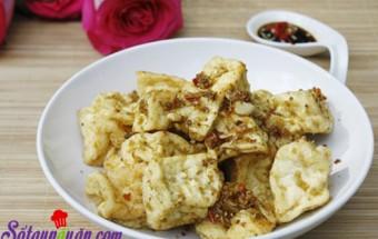 Nấu ăn món ngon mỗi ngày với Đậu phụ, Đậu phụ rán sả ớt mới lạ