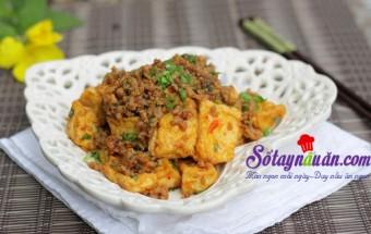 Nấu ăn món ngon mỗi ngày với Đậu phụ, Đậu phụ xào thịt cay