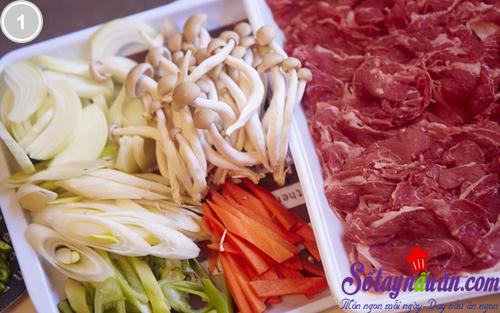 Giòn giòn nấm kim châm xào thịt bò 1