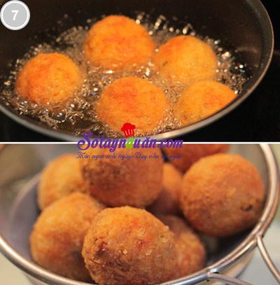 Món ngon dễ làm khoai lang bọc tôm thịt 7