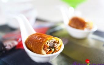Nấu ăn món ngon mỗi ngày với Váng đậu, món ngon nem cuốn vịt quay