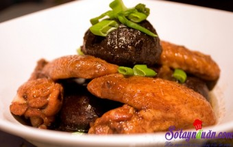 Nấu ăn món ngon mỗi ngày với Cánh gà, Nóng hổi cánh gà sốt nấm ngon cơm