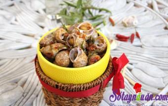 Nấu ăn món ngon mỗi ngày với Lá chanh, Ốc hương xào tỏi ớt lá chanh thơm lừng