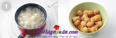 trứng cút xào mộc nhĩ chua ngọt 1