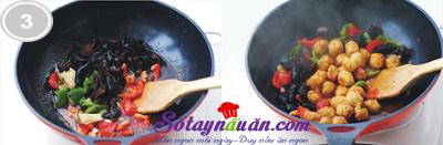 Trứng cút xào mộc nhĩ chua ngọt 3