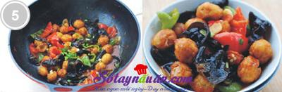 Trứng cút xào mộc nhĩ chua ngọt 5