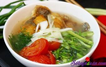 Nấu ăn món ngon mỗi ngày với Rau cần, Tự làm bún cá rô