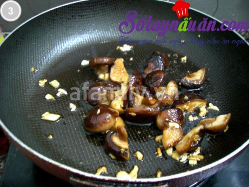 Bò viên xào cải thìa nấm hương 3