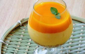 Nấu ăn món ngon mỗi ngày với Nước nóng, Cách làm pudding xoài giải nhiệt