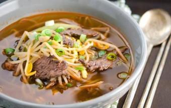 Nấu ăn món ngon mỗi ngày với Bột ớt, Canh thịt bò nấu giá đỗ