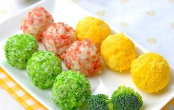 Nấu ăn món ngon mỗi ngày với Jambon, Cơm nắm màu sắc lạ mà quen
