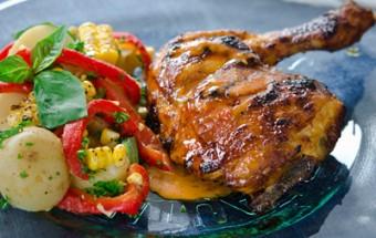 Nấu ăn món ngon mỗi ngày với Chanh tươi, Đùi gà nướng cay