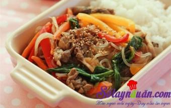 Nấu ăn món ngon mỗi ngày với Nấm kim châm, Miến trộn Hàn Quốc