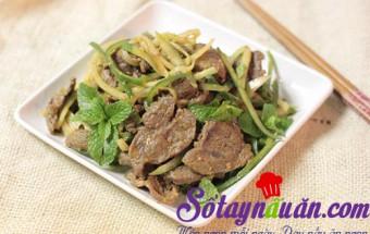 Nấu ăn món ngon mỗi ngày với Ớt xanh, Thịt bò trộn hành tây dưa chuột