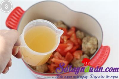 Thịt viên sốt cà chua 3