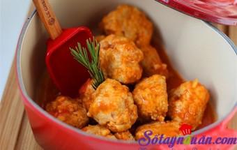 Nấu ăn món ngon mỗi ngày với Thịt nạc xay, Thịt viên sốt cà chua
