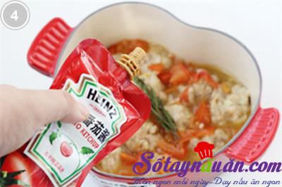 Thịt viên sốt cà chua 4