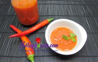 Nấu ăn món ngon mỗi ngày với Ớt đỏ, Tự làm tương ớt sạch tại nhà